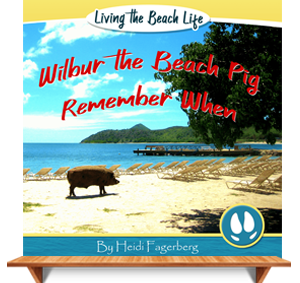 Cover Page for Wilber the Beach Pig Children's Book